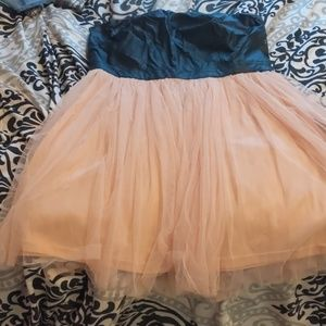 Black leather /pink tutu dress